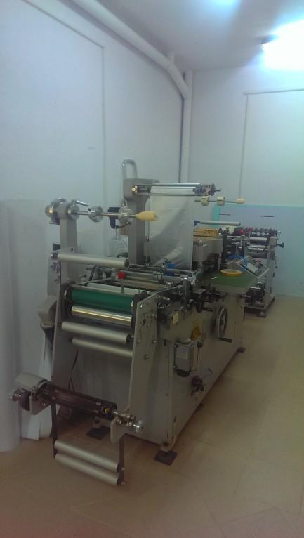 Masina automata de finisare etichete  cod  LFS-Automatic test