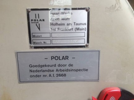 Paper guillotines machine Polar 82 EL Polar